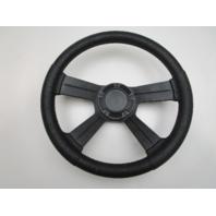 "Teleflex 4 Spoke 3/4"" Tapered Shaft Marine Boat Black Steering Wheel 13"""
