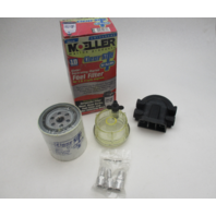 33314-10 Moeller Marine Outboard Water Separating Fuel Filter Kit for 2 & 4 Cycle