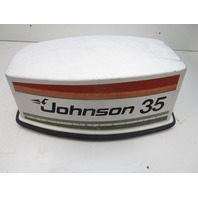 0388736 Johnson Outboard 35 HP Top Cowl Motor Engine Cover Electric Start 1978