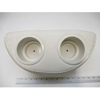 Boat / RV White Marine Vinyl Portable 2 Drink Cup Holder
