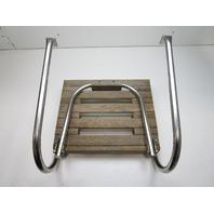 "Marine Boat Teak Wood Swim Platform 18"" x 15"" with 1 Step Ladder"