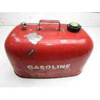 Evinrude Johnson Chilton Marine Outboard Red 6 Gallon Metal Gas Fuel Tank