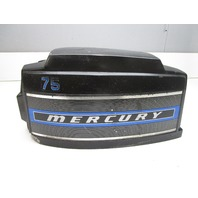 5652A5 Top Engine Cowling Cover for Mercury 75 7.5 9.8 110 Outboard Black