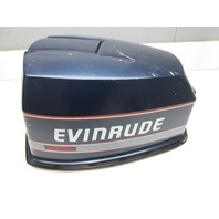 OMC Evinrude Johnson 90 HP V4 VRO Blue Motor Cowl Engine Cover Top Cowling Hood