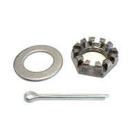 """81169 Trailer AXLE Spindle Nut Kit 1"""" Castle Nut, Washer & Cotter Pin"""