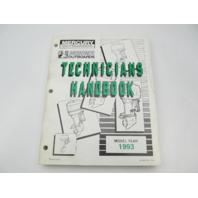 816981930 1993 Mercury Mariner Outboard Technicians Handbook Manual