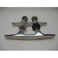 """Set of 2 Stainless Boat Cleats 6"""" x 1"""" x 3/4"""""""