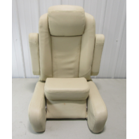 Misty Harbor Pontoon Boat Bolstered Reclining Captain Helm Chair Seat Tan