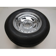 Tow-Master Special Trailer Tire, Size ST205/75D14 -F78-14 C BIAS & Chrome Wheel