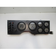 "1988 Glastron X-16 Boat Black Plastic Instrument Panel 19""W X 6""H"