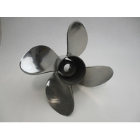 13.75 x 26 Pitch 4 Blade Stainless Trophy Plus Propeller for Mercury Outboard