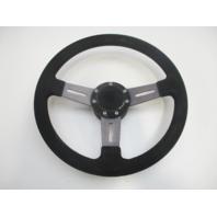 """Dino Boat Steering Wheel 13"""" 3 Slotted Spoke Aluminum"""