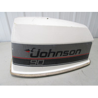 OMC Johnson Evinrude 90 HP V4 VRO Motor Cowl Engine Cover Top Cowling Hood White