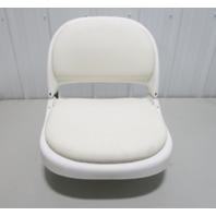 Attwood Marine PROForm White Folding Boat Seat with Padded Onserts and Base