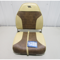 Wise 8WD588PLS-662 Standard High Back Folding Boat Seat Chair, Sand / Brown