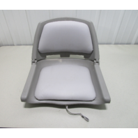 Wise WD139LS-717 Cushioned Molded Fishing Boat Seat Chair Fold Down Grey