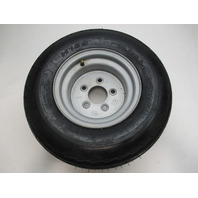 BOAT TRAILER TIRE 20.5 x 8.0-10; Load Range D 1330# @70PSI with Silver Wheel