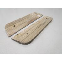 "Vintage Marine Boat Teak Wood Step Pad Trim Set (2) 13.5"" x 3"" x 3/4"""