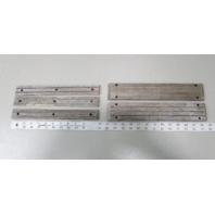 "Vintage Marine Boat Teak Wood Step Pad Trim (2) 12.75"" x 2.25"", (3) 12"" x 1.25"""