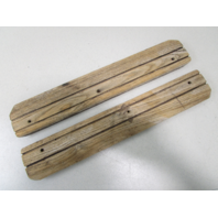 "Vintage Marine Boat Teak Wood Step Pad Wall Trim Set 19 5/8"" x 3 3/8"" x 3/4"""