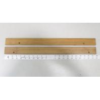 """Vintage Marine Boat Teak Wood Wall Deck Trim Insert Set 21 7/8"""" x 1 3/4"""" x 3/8"""""""