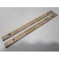 """Vintage Marine Boat Teak Wood Wall Deck Trim Insert Set (2) 12"""" x 7/8"""" x 1/4"""""""