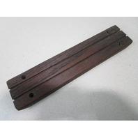 "Vintage Marine Boat Teak Wood Step Pad Trim 11 3/4"" x 2 5/8"" x 5/8"""