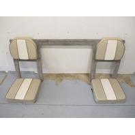 1995 Lund Tyee 1850 Grand Sport Sterndrive Rear Seats Tan & White