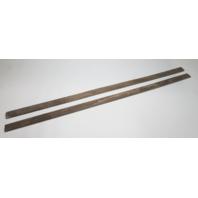 """Marine Boat Vintage Teak Wood Wall Deck Trim Insert Set 56 3/4"""" x 2"""" x 1/4"""""""