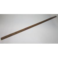 """Marine Boat Vintage Teak Wood Wall Deck Trim Insert 56 1/4"""""""" x 2"""" x 1/4"""""""