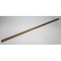"""Marine Boat Vintage Teak Wood Wall Deck Trim Insert 56 1/2"""" x 2"""" x 1/4"""""""