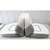 1994 Bayliner Capri 1800LS Boat Seat Back to Back Fold Down White Grey