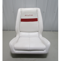 """1991 WellCraft 186 XL Eclipse Boat White Red Captains Helm Chair Seat 23"""" x 22"""""""