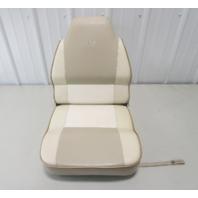 1995 Lund Tyee 1850 Grand Sport Boat Folding Pedestal Seat Chair Tan White