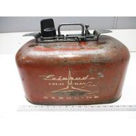 Vintage Johnson Evinrude Outboard Boat 6 Gal 2 Line Pressure Gas Fuel Tank