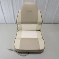 1995 Lund Tyee 1850 Grand Sport Boat Folding Pedestal Chair Seat Tan White