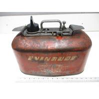 Vintage Johnson Evinrude Outboard Boat 4 Gal 2 Line Pressure Gas Fuel Tank
