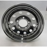 "Chrome Plated Trailer Wheel Rim 13"" x 4.5""  5 Lug"