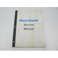 MotorGuide Outboard Trolling Motor Parts Lists Service Manual for 1988-89