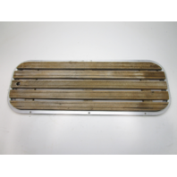 "1988 Sea Sprite Floor Deck Ski Hatch Cover Teak Aluminum Frame 37 3/8"" x 13 3/8"""