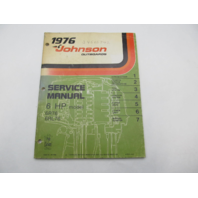 JM-7604 1976 Johnson Outboard Service Manual 6 HP 6R76 6RL76