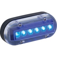 BASE UNDERWATER LED LIGHTS-1.5?H x .75?D x 3.5?L, Blue