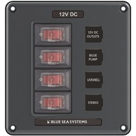 """WATER RESISTANT CIRCUIT BREAKER SWITCH PANELS-4 Position, 5""""H x 4.625""""W"""