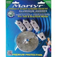 MARTYR ALUMINUM ANODE KIT FOR YAMAHA 40-60 Hp