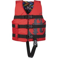 "FULL THROTTLE  CHILD NYLON WATER SPORTS VEST-Child 20-25"", 30-50 lbs, Red"
