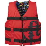 "FULL THROTTLE  YOUTH NYLON WATER SPORTS VEST-Youth 24-29"", 50-90 lbs, Red"