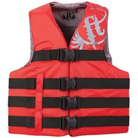 "FULL THROTTLE TEEN /ADULT NYLON WATER SPORTS VEST-X-Small (Teen) 28-32"", Red"