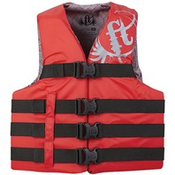 "FULL THROTTLE TEEN/ADULT NYLON WATER SPORTS VEST-4XL/7XL 60-70"", Red"