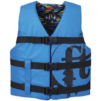 "FULL THROTTLE YOUTH NYLON WATER SPORTS LIFE VEST-Youth 24-29"", 50-90 lbs, Blue"