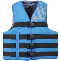 "FULL THROTTLE TEEN/ADULT NYLON WATER SPORTS VEST-Large/XL 40-52"", Blue"